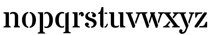 Stardos Stencil Regular Font LOWERCASE