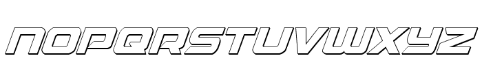 Starduster 3D Italic Font LOWERCASE