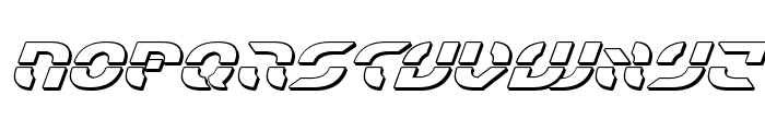Starfighter Bold 3D Italic Font LOWERCASE