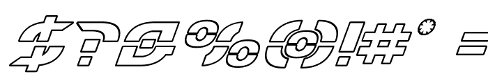 Starfighter Outline Italic Font OTHER CHARS