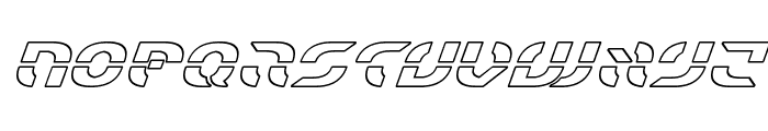 Starfighter Outline Italic Font LOWERCASE
