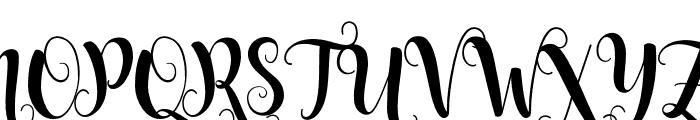 Starfish Font UPPERCASE