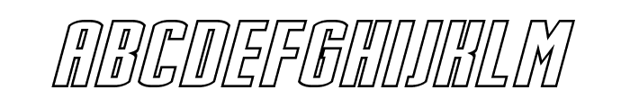 Stark Hollow Italic Font UPPERCASE