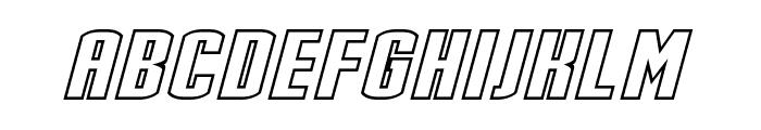 Stark Hollow Italic Font LOWERCASE