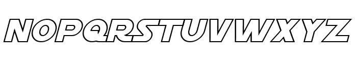 Starkiller Outline Italic Font UPPERCASE