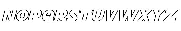 Starkiller Outline Italic Font LOWERCASE