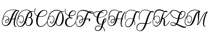 StarliveScript Font UPPERCASE