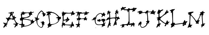 Starry-Eyed Teen Crush Regular Font UPPERCASE