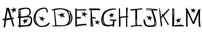 Starry Night Font UPPERCASE