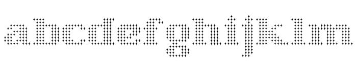 Starry Stitch Font LOWERCASE