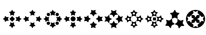 Stars for 3D FX Font OTHER CHARS