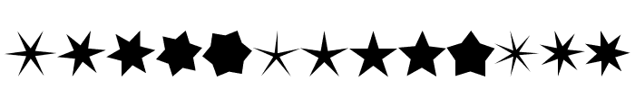 Stars no Stripes Font UPPERCASE