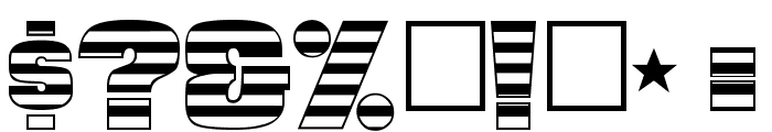 StarsAndStripes-Plain Regular Font OTHER CHARS