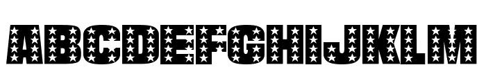 StarsAndStripes-Plain Regular Font UPPERCASE