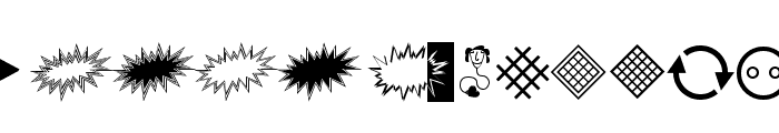 StarsStripesBullets Font UPPERCASE
