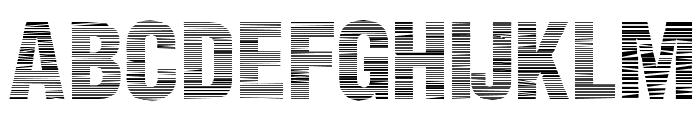 Static Age Horizontal Hold Font UPPERCASE