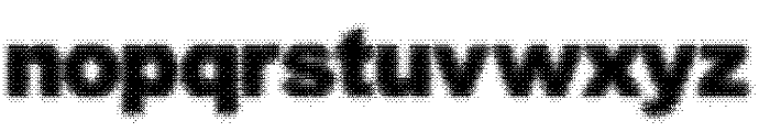 Static Buzz Font LOWERCASE