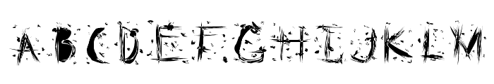 Static Cling Static Font LOWERCASE