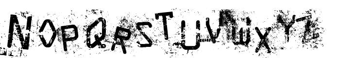 Staubiges Vergngen Font LOWERCASE