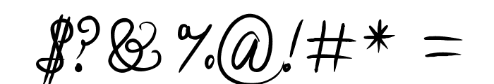 Stealingkissesinthemoonlight Font OTHER CHARS
