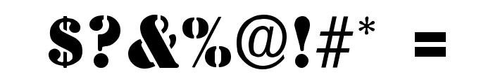 Steamer Regular Font OTHER CHARS