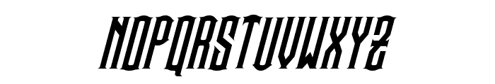 Steamwreck Italic Font UPPERCASE