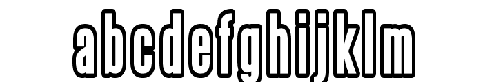 Steelfish Outline Font LOWERCASE