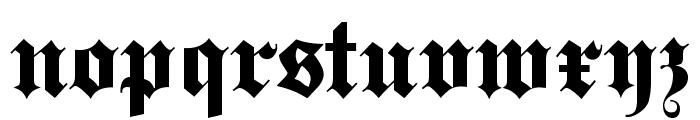 Steelplate Textura Font LOWERCASE