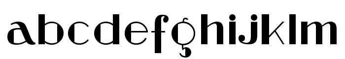 Stefan Regular Font LOWERCASE