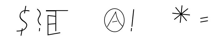SteinAntik-Light Font OTHER CHARS
