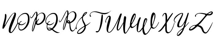 Stella Wilson Font UPPERCASE
