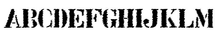 Stenci lIntellecta Trash Free Font UPPERCASE