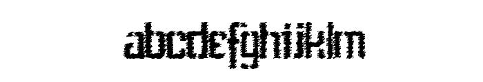 Stenci lIntellecta Trash Free Font LOWERCASE