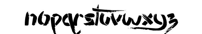 Stencil Brush Font UPPERCASE