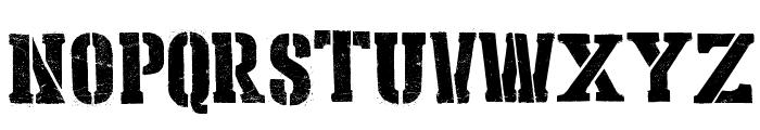 Stencil Cargo Army Font UPPERCASE