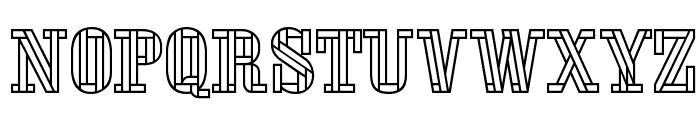 Stencil FourReversed Font UPPERCASE