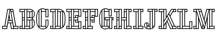 Stencil FourReversed Font LOWERCASE
