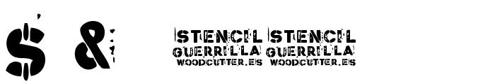 Stencil Guerrilla Font OTHER CHARS