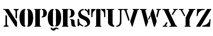 Stencil Intellecta Limited Set Font UPPERCASE