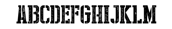Stencil Style New Font UPPERCASE