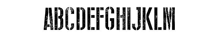Stencil WW II Font LOWERCASE