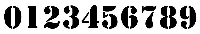 StencilDisplayOpti Font OTHER CHARS