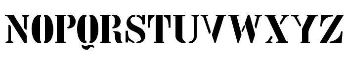 StencilIntellectaLimitedSet Font UPPERCASE