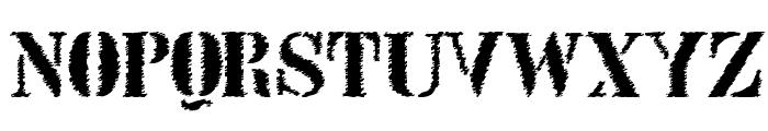 StencilIntellectaTrashFree Font UPPERCASE