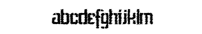 StencilIntellectaTrashFree Font LOWERCASE