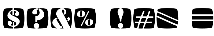 StencilStamps Font OTHER CHARS