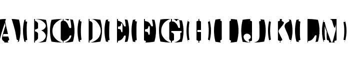 StencilStamps Font UPPERCASE
