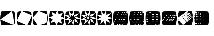 StencilStamps Font LOWERCASE