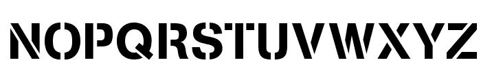 Stencilia-A Font UPPERCASE
