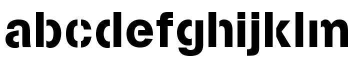 Stencilia-A Font LOWERCASE